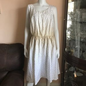 960655d92bd3 NWOT Modcloth White Gold Polkadot Dress Size 2X